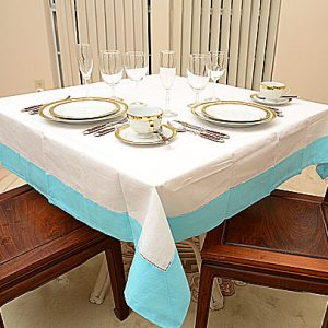 River Blue All Colored 54″sq. tablecloth.