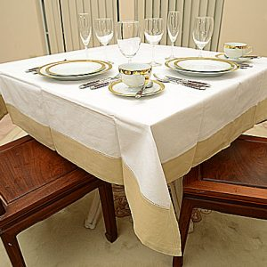 Taupe All Colored 54″sq. Tablecloth.