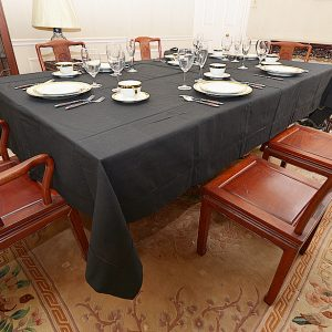 festive Black long rectangular tablecloth, dinning room tablecloth