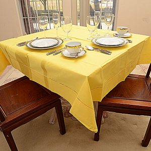 "Festive tablecloth Aspen Gold 54""square"