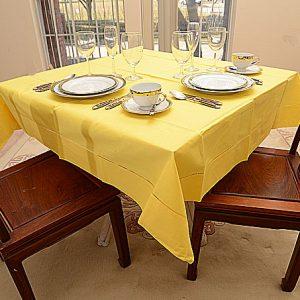Aspen Gold All Colored. 54″ square tablecloth.
