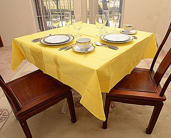 "Festive tablecloth Aspen Gold 54""square"