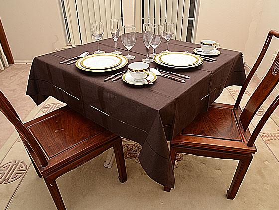 "Festive Brown 54""square tablecloth"