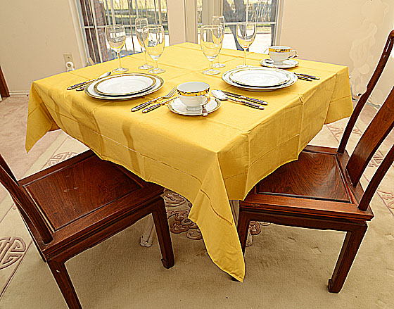 "Festive Honey Gold 54""square tablecloth"