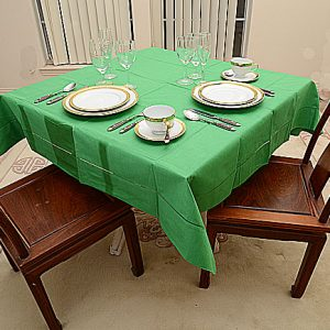 Kelly Green All Colored 54″ Square Tablecloth.