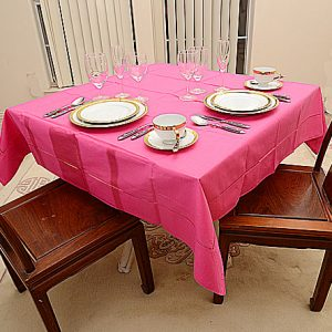 Hot PInk All Colored 54″sq. tablecloth.