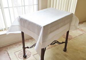 Linen Table Topper.