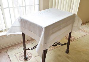 Linen Table Topper.