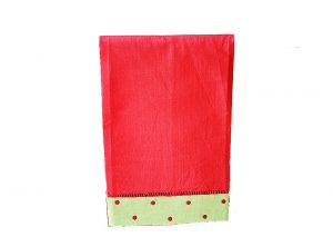 Festive Red Green Red Dots Guest Towel